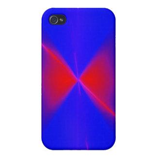 Triángulos rojos en azul iPhone 4/4S funda