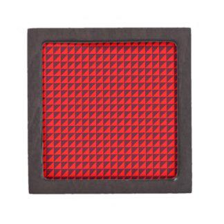 Triángulos - rojos y escarlata oscuro cajas de recuerdo de calidad