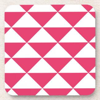 Triángulos rosados y blancos de Bubblegum Posavaso