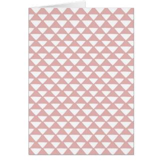 Triángulos rosados y blancos tarjeta de felicitación