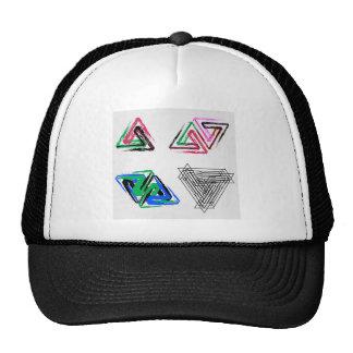 Triángulos subiós pluma artística gorro