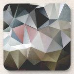 Triángulos texturizados posavasos de bebida