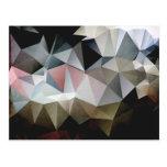 Triángulos texturizados tarjetas postales