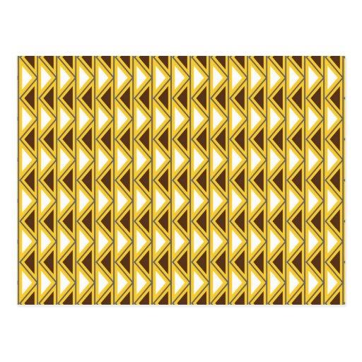 Triángulos tribales de Brown del oro del nativo am Postales