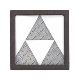 Triángulos triples caja de joyas de calidad