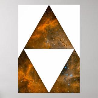 Triángulos triples cósmicos impresiones