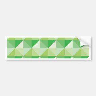 Triángulos verdes pegatina para auto