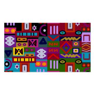 triángulos y cuadrados con el mosaico de los tarjetas de visita