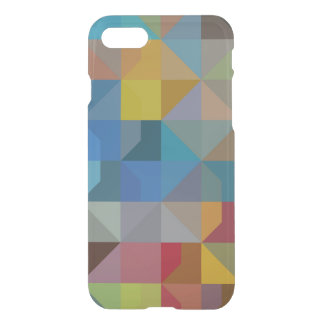Triángulos y diamantes multicolores del arte de funda para iPhone 7