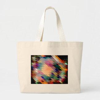 Triángulos y paralelogramos bolsa lienzo