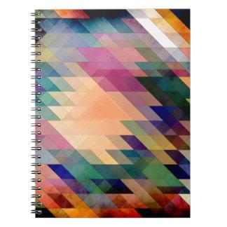 Triángulos y paralelogramos libros de apuntes con espiral