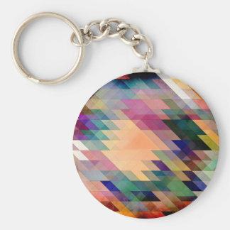 Triángulos y paralelogramos llaveros personalizados