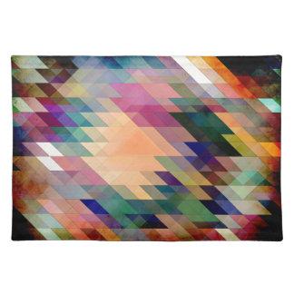 Triángulos y paralelogramos mantel individual