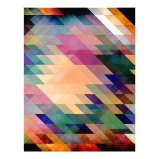 Triángulos y paralelogramos membretes personalizados