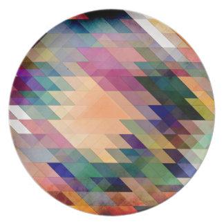 Triángulos y paralelogramos plato de cena