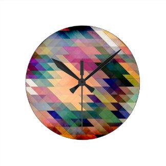 Triángulos y paralelogramos reloj de pared