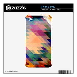 Triángulos y paralelogramos skins para iPhone 4