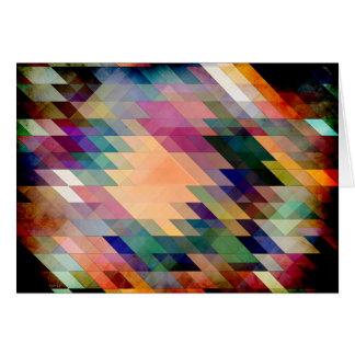 Triángulos y paralelogramos tarjeta de felicitación