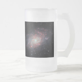 Triangulum Galaxy Frosted Glass Beer Mug
