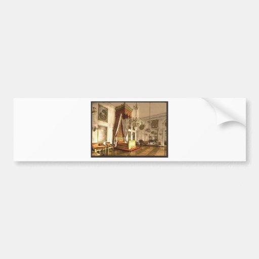 Trianon magnífico, cámara de reina Victoria, Versa Etiqueta De Parachoque