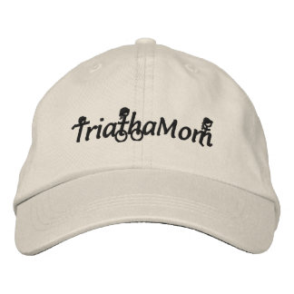 TriathaMom bordó el gorra de la tela cruzada Gorras Bordadas