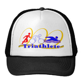 Triathlete - funcione con la nadada de la bici gorros