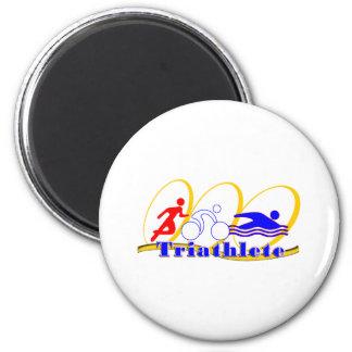 Triathlete - funcione con la nadada de la bici imán redondo 5 cm
