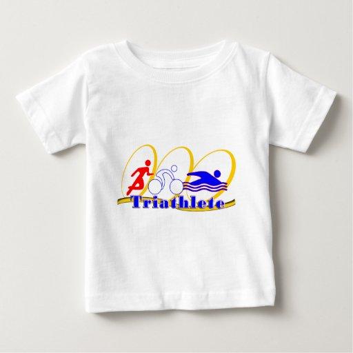 Triathlete - funcione con la nadada de la bici playera de bebé