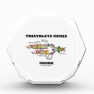 Triathlete Genes Inside (DNA Replication) Acrylic Award