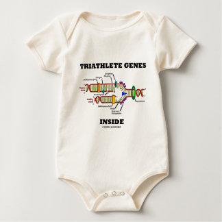 Triathlete Genes Inside (DNA Replication) Baby Bodysuit