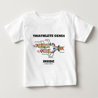 Triathlete Genes Inside (DNA Replication) Baby T-Shirt