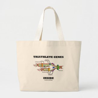 Triathlete Genes Inside (DNA Replication) Tote Bags