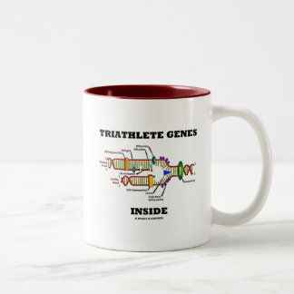 Triathlete Genes Inside (DNA Replication) Two-Tone Coffee Mug