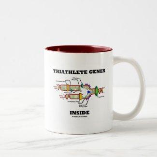 Triathlete Genes Inside (DNA Replication) Coffee Mugs