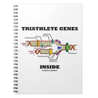 Triathlete Genes Inside (DNA Replication) Spiral Note Books