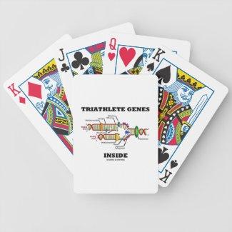 Triathlete Genes Inside (DNA Replication) Poker Cards