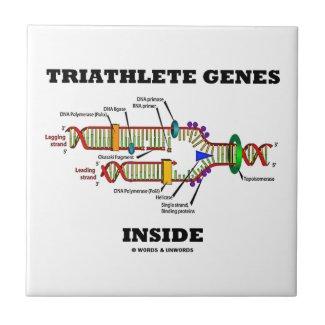 Triathlete Genes Inside (DNA Replication) Ceramic Tile