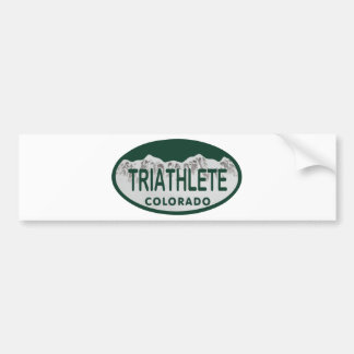 Triathlete license oval bumper stickers