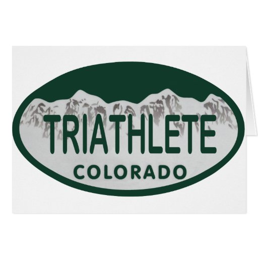 Triathlete license oval card