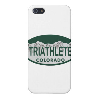 Triathlete license oval case for iPhone 5