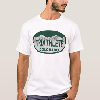 Triathlete license oval T-Shirt