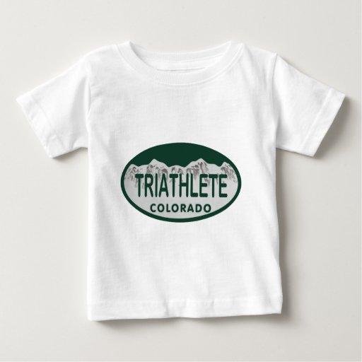 Triathlete license oval tee shirts