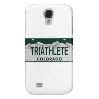Triathlete license plate samsung galaxy s4 cover