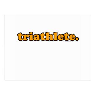 triathlete postcard