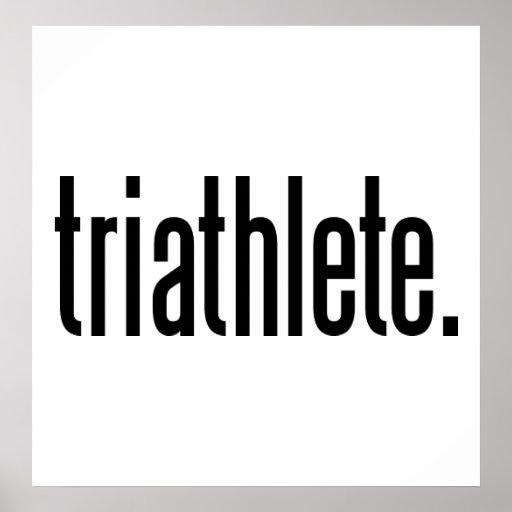 Triathlete. Poster