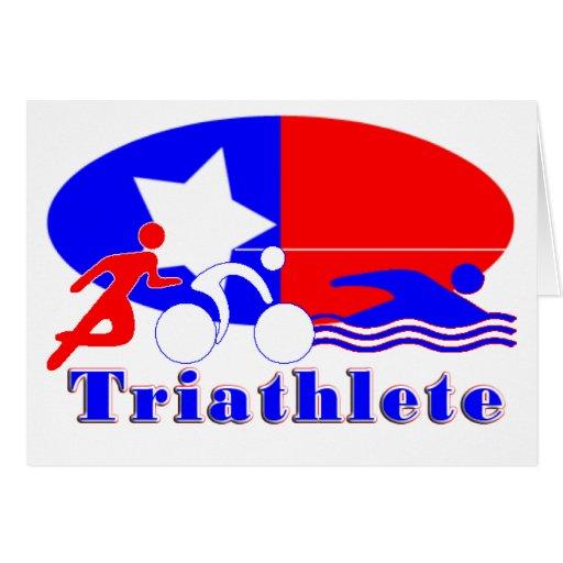 Triathlete RED /WHITE/ BLUE Cards