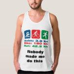 Triathlete Swim Bike Run Doing It Because I Can Tank Top