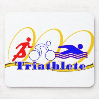 Triathlete SWIM RUN BIKE Mouse Pad