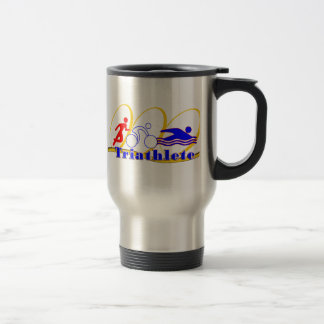 Triathlete SWIM RUN BIKE Travel Mug