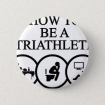triathlon10 pinback button